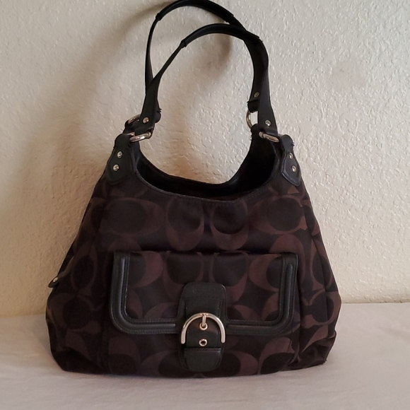 Coach Authentic Signature Campbell Canvas Hobo